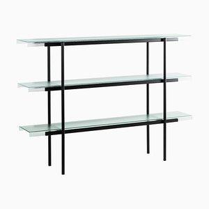 Passerelle 160 Shelf 9700S-03 aus Glas & schwarzem Stahl von Sebastian Herkner für Pulpo