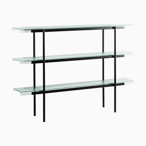 Passerelle 160 Shelf 9700S-03 in Glass & Black Steel by Sebastian Herkner for Pulpo
