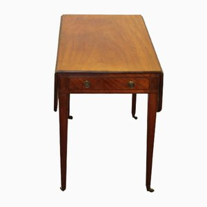 Mahogany Pembroke Table with Drawer, 1830s