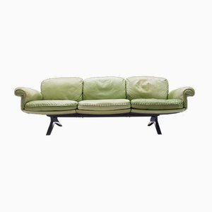 Swiss Green 3-Seater Model DS31 Sofa from de Sede, 1960s