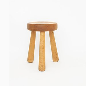 Vintage Swedish Stool by Ingvar Hildingsson