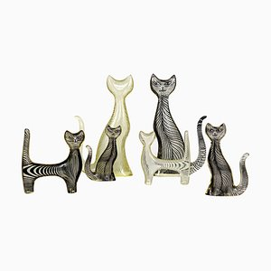 Mid-Century Lucite Cats by Abraham Palatnik, Set of 6
