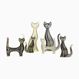 Mid-Century Lucite Cats by Abraham Palatnik, Set of 6