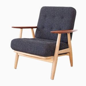 Mid-Century Danish GE-240 Cigar Easy Chair by Hans J. Wegner for Getama