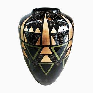Large Art Deco Style Vase by Eliade Ispas, 2000s