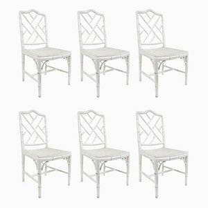 Faux Bamboo Dining Chairs, 1970s, Set of 6