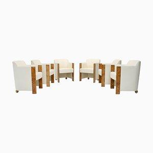 Esszimmerstühle aus Seiden & Wurzelholz von Thörmer, 1980er, 6er Set