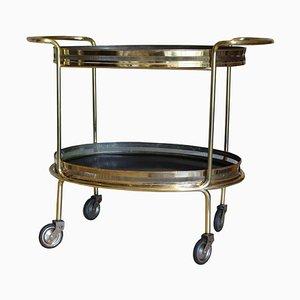Mid-Century Italian Mahogany and Brass Bar Cart, 1950s