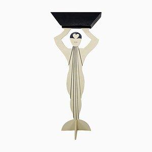 Support pour Plante de Style Art Déco Postmoderne en Forme de Dame Élégante