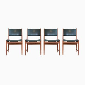 Mid-Century Teak Dining Chairs by Kai Lyngfeldt Larsen for Søren Willadsen Møbelfabrik, 1960s, Set of 4