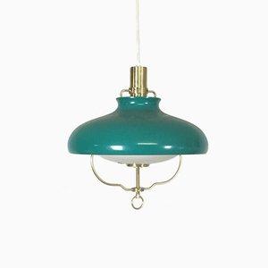 Lámpara colgante verde de LYFA, años 60