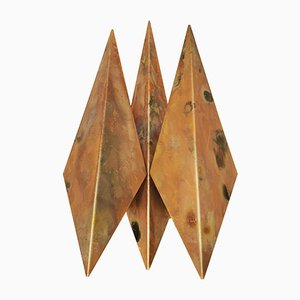 Danish Copper Sconces by Svend Aage Holm Sørensen for Holm Sørensen & Co, 1960s, Set of 2