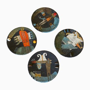 Vintage Decorative Plates, Set of 4