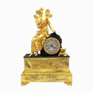 19th Century Charles X Gilt Bronze Pendulum Clock