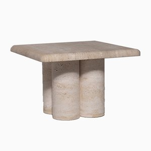 Vintage Sculptural Travertine Side Table by Mario Bellini, 1970s