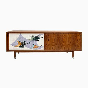 Mid-Century Sideboard with Ceramic by Alfred Hendrickx, 1960s