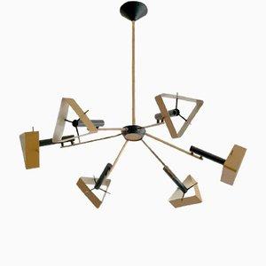 Konstruktivistische Deckenlampe von Oscar Torlasco für Lumi, 1950er