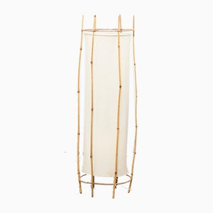 Mid-Century French Bamboo Floor Lamp by Louis Sognot, 1960s