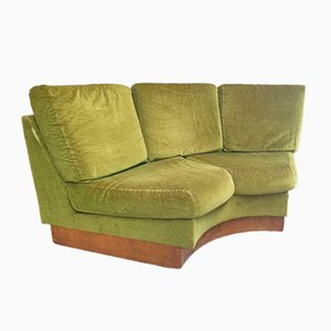 Vintage Green Loveseat Sofa, 1950s