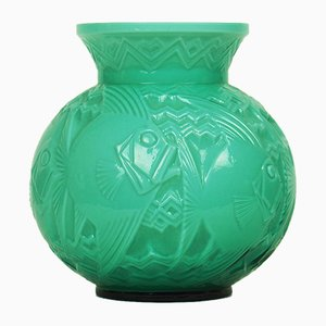Glass Vase by Pierre d'Avesn, 1940s