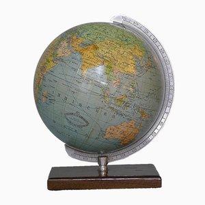 Kleiner Mid-Century 14 cm Globus aus Buchenholz von Columbus Oestergaard, 1950er