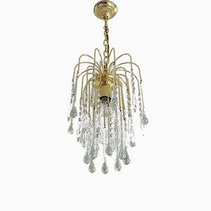 Vintage Tropfen Deckenlampe aus Muranoglas in Tropfenform