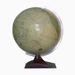 Art Deco 32 cm Political Streamline Globe on Bakelite Stand from JRO Verlag, 1950s