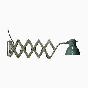Industrielle Vintage Bauhaus Scheren Wandlampe von SIS, 1950er