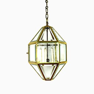 Large Antique Vienna Secession Pendant Lamp by Josef Hoffmann