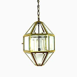Large Antique Vienna Secession Pendant Lamp by Josef Hoffmann