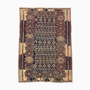 Medium Vintage Turkish Blue, Red & Beige Tribal Kilim Rug, 1960s