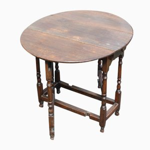 Small Oak Gateleg Table with Drawer, 1800s