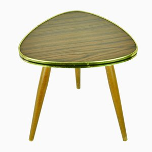 German Brown Formica Side Table, 1950s