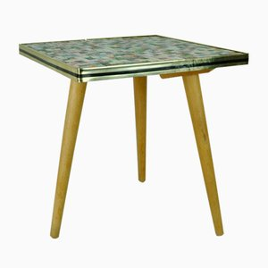 German Square Tiled Side Table, 1950s