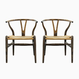 Mid-Century Model CH24 Wishbone Dining Chairs by Hans J. Wegner for Carl Hansen & Søn, Set of 2