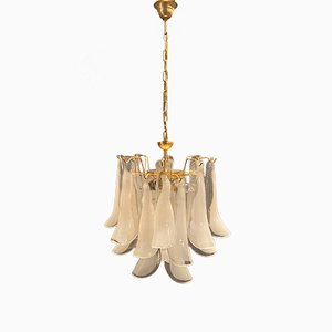 Murano Glass Feather Chandelier by Mazzega, 1970s