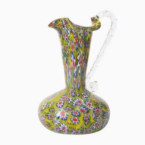 Mid-Century Italian Millefiori Glass Jug from Fratelli Toso