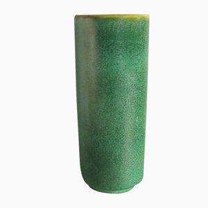 Zylinder Keramikvase im skandinavischen Stil der Karlsruher Majolika von FriedgartGlatzle. 1960 - 1964