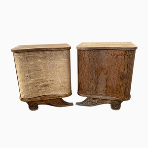 Mid-Century French Nightstands, 1930s, Set of 2