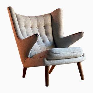 Dänischer Modell AP-19 Papa Bear Chair von Hans J. Wegner für AP Stolen, 1950er