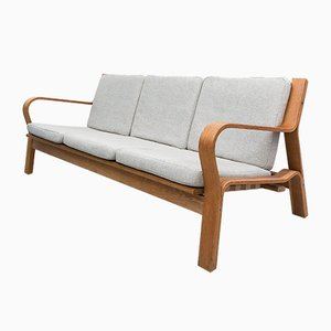 Oak Ge-671 Sofa by Hans J. Wegner for Getama, 1960s