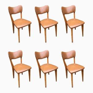 Mid-Century Scandinavian Dining Chairs, 1950s, Set of 6