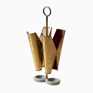 Italian Brass Umbrella Stand, 1950s