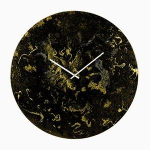 Lámpara de pared de vidrio negro y dorado sobredimensionada con iluminación de Craig Anthony