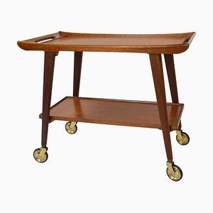 Teak Serving Bar Cart from Opal Möbel, 1960s