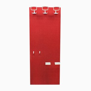 Space Age Red and White Wall Coat Rack, 1960s