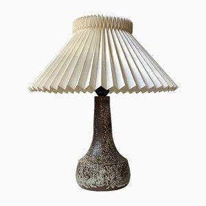 Skandinavische Moderne Gesprenkelte Glasierte Keramik Tischlampe, 1960er