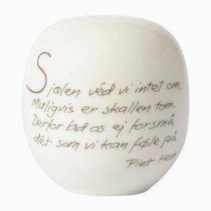 Salière Mid-Century en Porcelaine par Piet Hein pour Royal Copenhagen