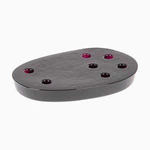 Large Atoll Candleholder 1602AM in Amethyst by Sebastian Herkner for Pulpo