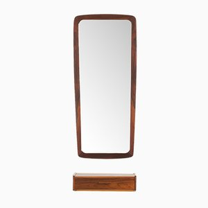 Danish Rosewood Mirror from Johansen Spejle, 1960s